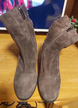 Шикарные замшевые ботиночки3 фото