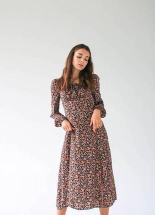 """Платье """"сорренто"""" с разрезом и длинным рукавом"""