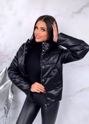 Стильная куртка из эко кожи2 фото