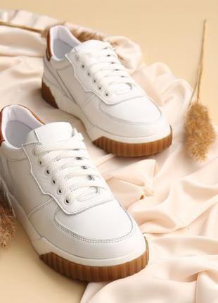 Белые кеды женские кожаные2 фото