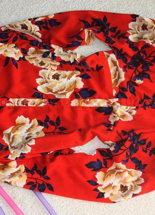 Милое платье в цветы. платье - рубашка . платье халат2 фото