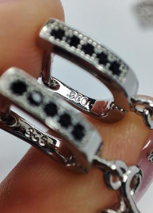 Неперевершений набір із срібла s925, з куб.цирконіями та перлами4 фото