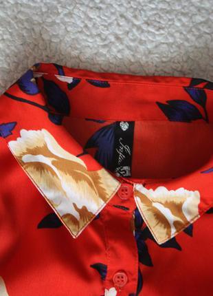 Милое платье в цветы. платье - рубашка . платье халат3 фото