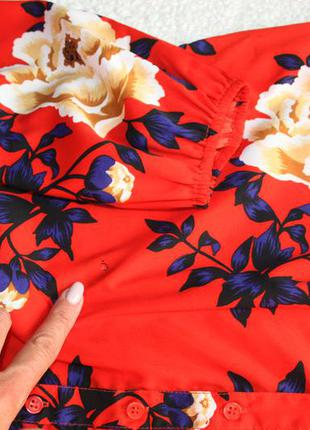 Милое платье в цветы. платье - рубашка . платье халат4 фото