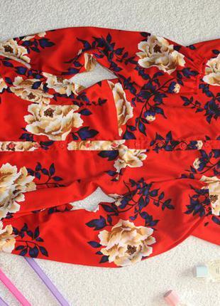 Милое платье в цветы. платье - рубашка . платье халат5 фото