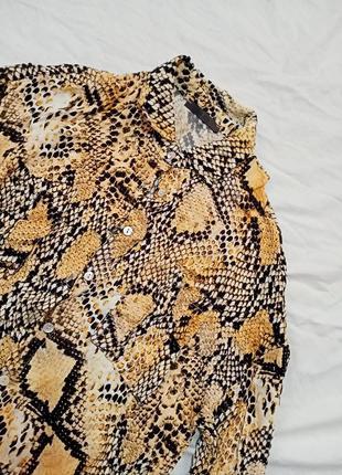 Рубашка в принт рептилия змеиный2 фото