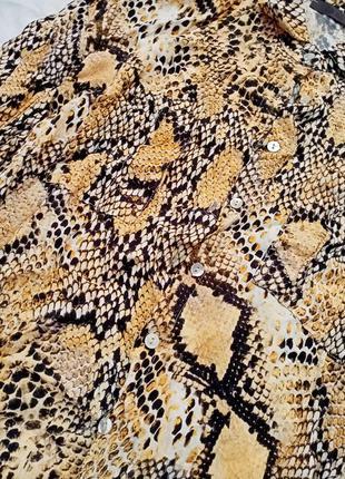 Рубашка в принт рептилия змеиный3 фото