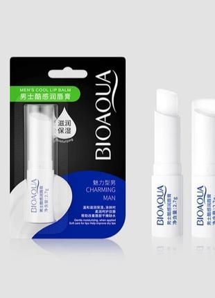 Гигиеничнская увлажняющая мужская помада для губ bioaqua