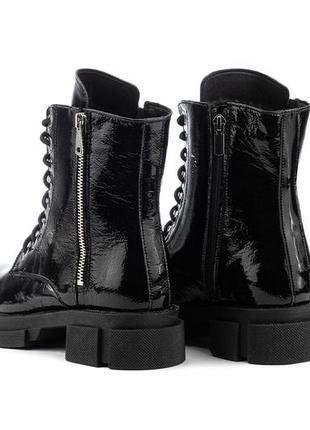 Женские осенние ботинки из натуральной кожи4 фото