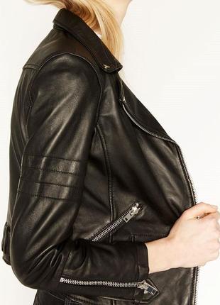 Куртка косуха женская с zara натур.кожа2 фото