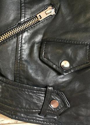Куртка косуха женская с zara натур.кожа6 фото