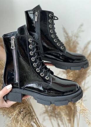 Женские осенние ботинки из натуральной кожи1 фото