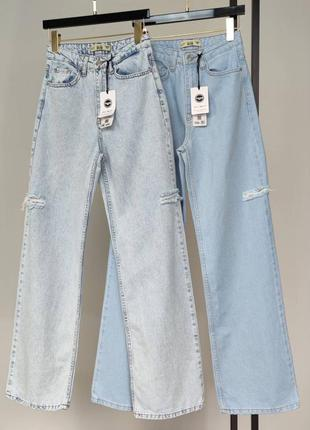 Акция! большой выбор джинсов! джинси «palazzo» з розрізами  висока посадка