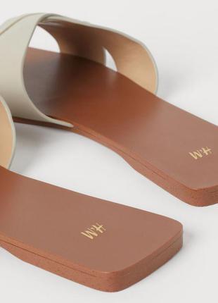 H&m классные трендовые шлёпанцы тапочки шлепки 🌺6 фото