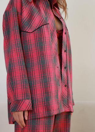 Пижамный костюм тройка из байки3 фото