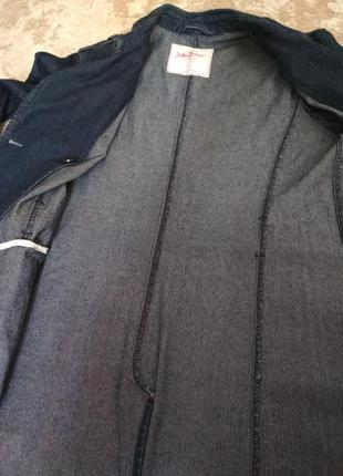 Джинсовая куртка плащ тренч3 фото