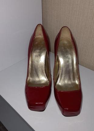 Кожаные стильные лаковые очень удобные туфли красного цвета ❤️2 фото