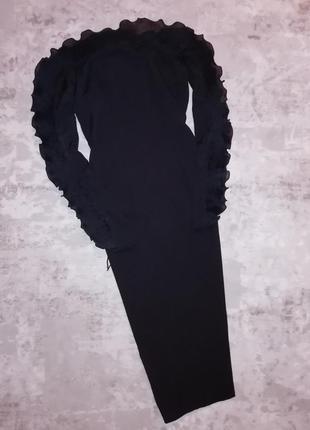Распродажа облегающее платье missguided миди с открытыми плечами и оборками с asos4 фото