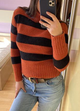 Тренд укороченный свитер гольф кашемир кофта1 фото