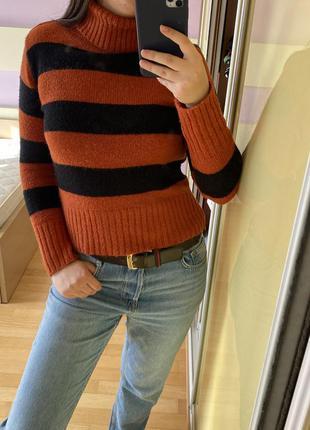 Тренд укороченный свитер гольф кашемир кофта5 фото