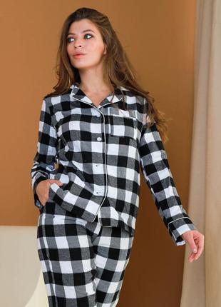 Пижама байка liza черно-серый3 фото