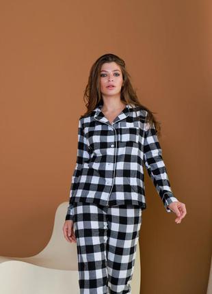 Пижама байка liza черно-серый2 фото