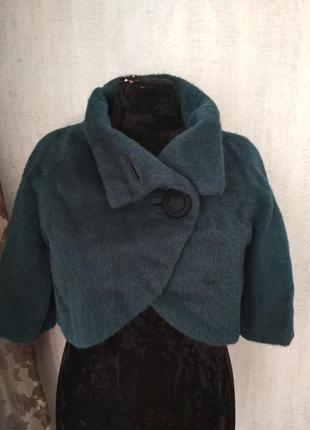 Женская меховая жилетка куртка болеро накидка альпака