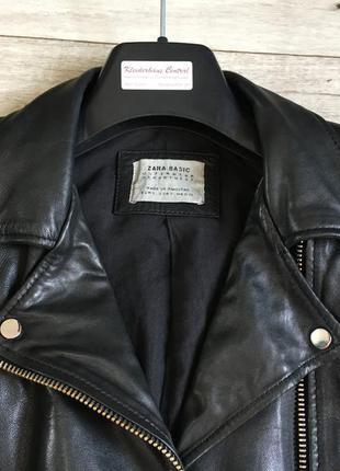 Куртка косуха женская с zara натур.кожа5 фото