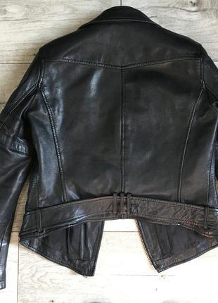 Куртка косуха женская с zara натур.кожа10 фото