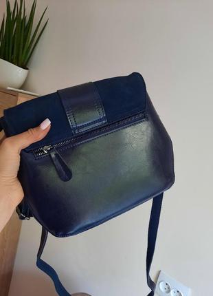 Красивая сумка кожа+замша2 фото