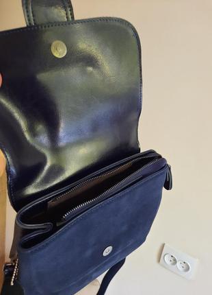 Красивая сумка кожа+замша3 фото