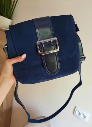 Красивая сумка кожа+замша1 фото