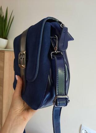 Красивая сумка кожа+замша5 фото