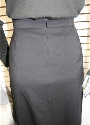 Чёрная шерстяная юбка valentino4 фото