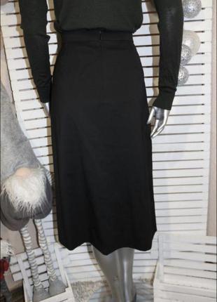 Чёрная шерстяная юбка valentino2 фото