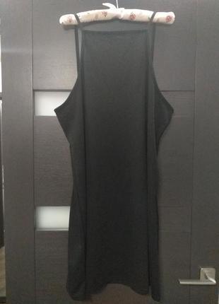 Черный сарафан, платье на бретелях от boohoo большой размер7 фото