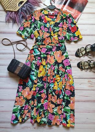 Распродажа натуральное платье topshop миди в стиле колор блок asos10 фото