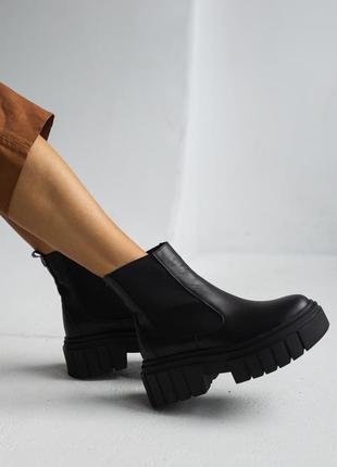 Женские осенние ботинки из натуральной кожи2 фото