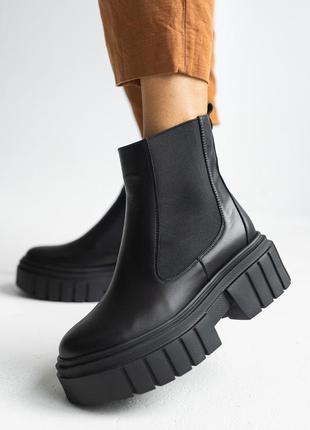 Женские осенние ботинки из натуральной кожи5 фото
