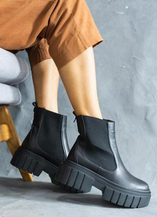 Женские осенние ботинки из натуральной кожи6 фото