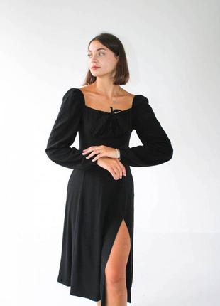 """Платье """"сорренто"""" с разрезом и длинным рукавом1 фото"""