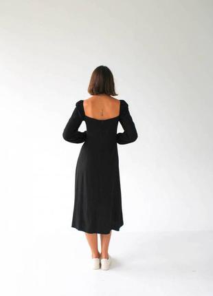 """Платье """"сорренто"""" с разрезом и длинным рукавом3 фото"""