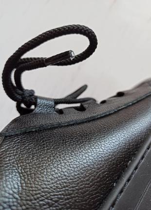 Кожаные черные кеды6 фото