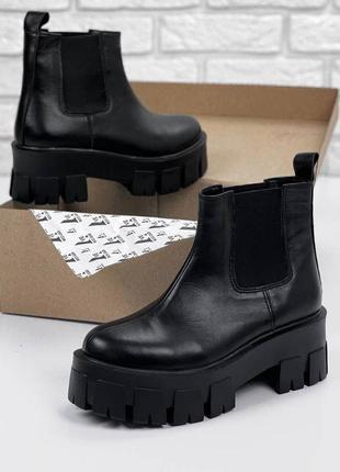Женские ботинки, ботинки демисезонные, ботинки деми, ботиночки женские, ботинки кожаные5 фото