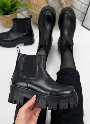 Женские ботинки, ботинки демисезонные, ботинки деми, ботиночки женские, ботинки кожаные7 фото