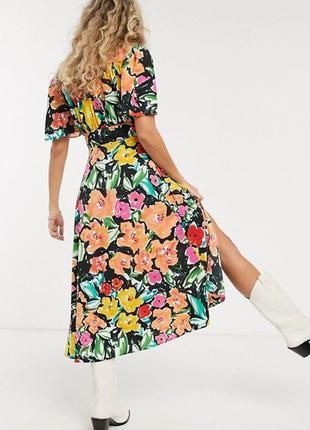 Распродажа натуральное платье topshop миди в стиле колор блок asos2 фото