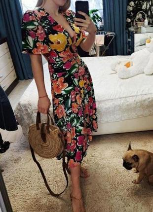 Распродажа натуральное платье topshop миди в стиле колор блок asos3 фото