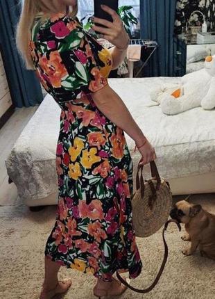 Распродажа натуральное платье topshop миди в стиле колор блок asos4 фото