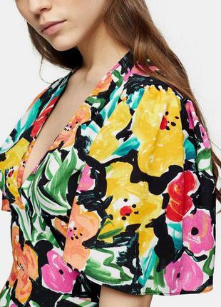 Распродажа натуральное платье topshop миди в стиле колор блок asos5 фото