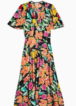 Распродажа натуральное платье topshop миди в стиле колор блок asos7 фото